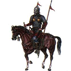 Кимакский воин в кольчуге X-XI вв.