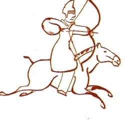 Хуннский всадник. Китайское изображение.
