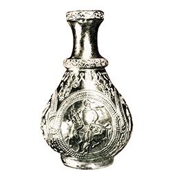 Болгарская серебряная ваза с изображением Кубрат-хана