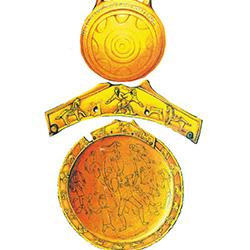 Памятники письменности (хазарский глиняный сосудик с рунической надписью) и торевтики Хазарского каганата