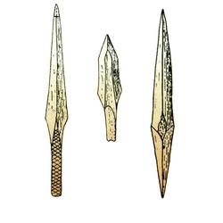 Костяные наконечники стрел именьковской культуры