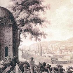 Вид Ханского дворца в Бахчисарае. Рис. Е. Корнеева, 1904 г.