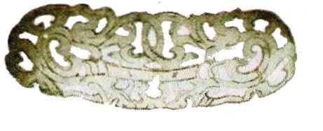 Нефритовая ажурная пластинка
