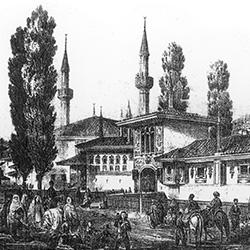 Ханский дворец в Бахчисарае. Худ. К. Боссоли. 1856 г.