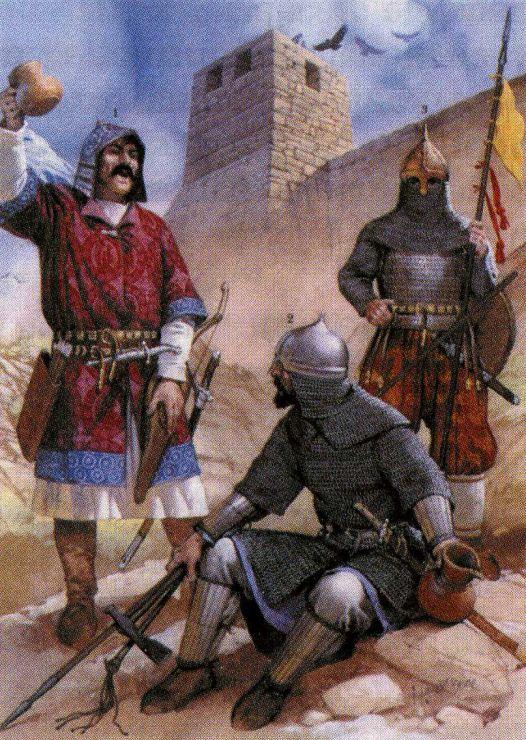 Хазарские воины у крепостной стены